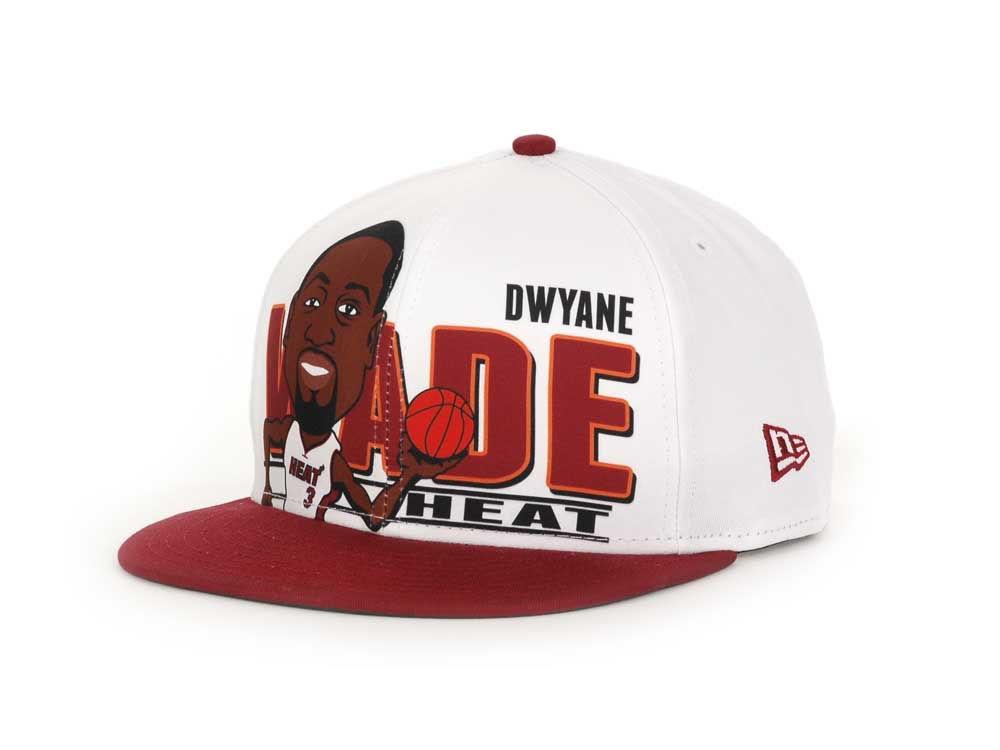 Miami Heat Dwyane Wade New Era NBA Player Caricature 9FIFTY Snapback ... 72671f87e322