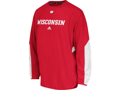 Wisconsin Badgers adidas NCAA Sideline Long Sleeve Crew