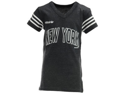 New York Mets MLB Youth Girls Heathered Name And Number T-Shirt