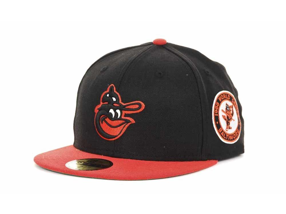 Baltimore Orioles New Era MLB Retro World Series Patch 59FIFTY Cap ... ce77581969e