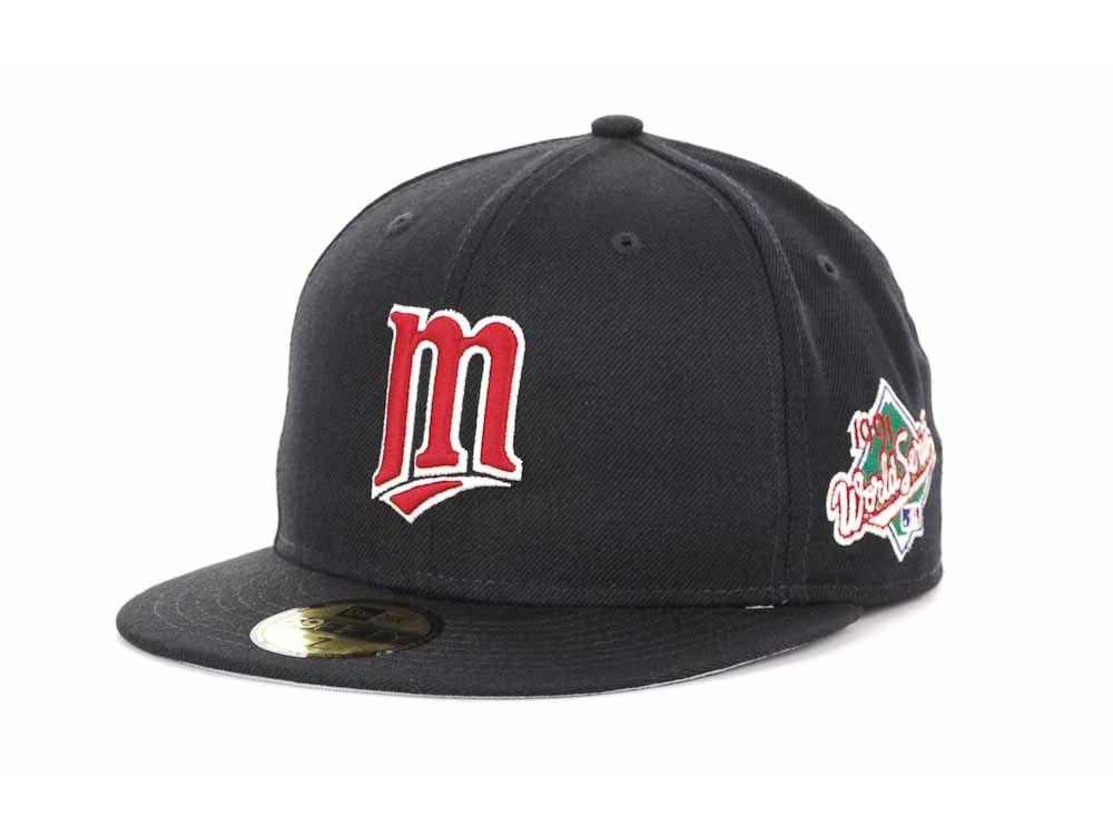 e8cb7290667 Minnesota Twins New Era MLB Retro World Series Patch 59FIFTY Cap ...
