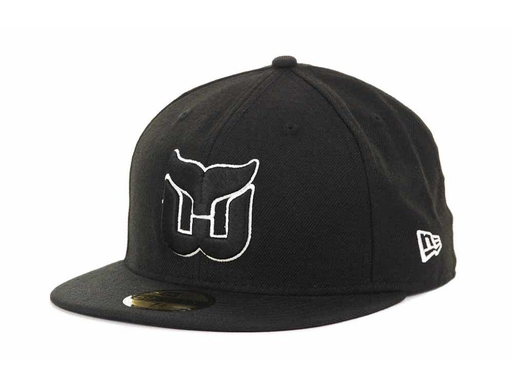 86892598758 Hartford Whalers New Era NHL Black and White 59FIFTY Cap