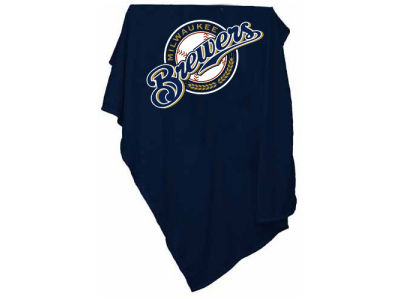 Milwaukee Brewers Logo Brands MLB Sweatshirt Blanket