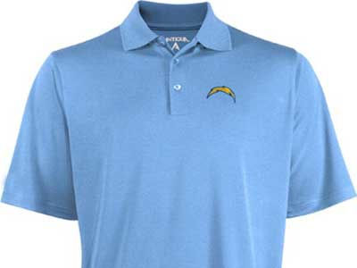 San Diego Chargers NFL Pique Xtra-Lite Polo