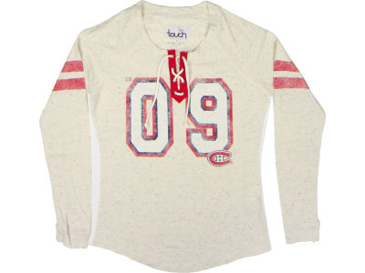Montreal Canadiens GIII NHL CN Womens Kickoff Lace up T-Shirt