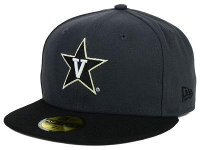 Vanderbilt Commodores New Era NCAA 2 Tone Graphite and Team Color 59FIFTY Cap