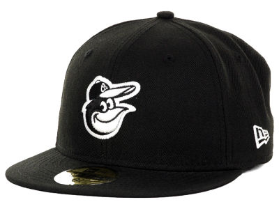 Baltimore Orioles New Era MLB Black and White Fashion 59FIFTY Cap