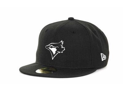 67b10a03364 Toronto Blue Jays New Era MLB Black and White Fashion 59FIFTY Cap