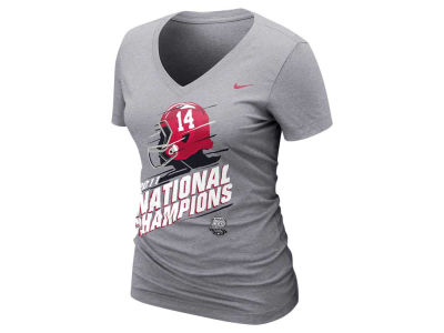 Alabama Crimson Tide Nike NCAA Womens 2012 National Champ LR Vneck T-Shirt