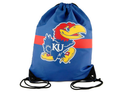 Kansas Jayhawks Team Stripe Drawstring Bag