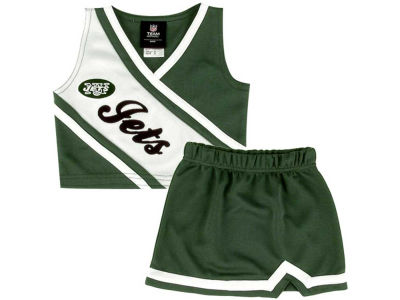 New York Jets NFL Kids 2 Piece Cheerleader Set