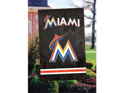 Miami Marlins Applique House Flag
