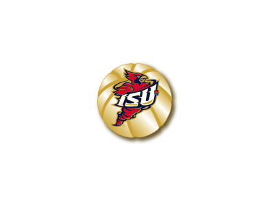 Iowa State Cyclones Sculpted Basketball Pin