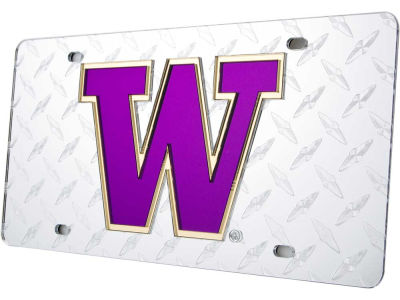 Washington Huskies Diamond Acrylic Laser Tag