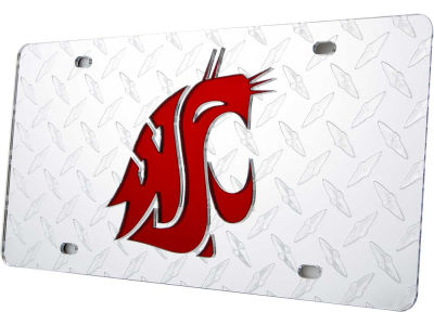 Washington State Cougars Diamond Acrylic Laser Tag