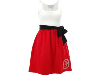 North Carolina State Wolfpack NCAA Womens Babydoll Bowtie Dress