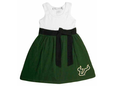South Florida Bulls NCAA Girls Babydoll Bowtie Dress