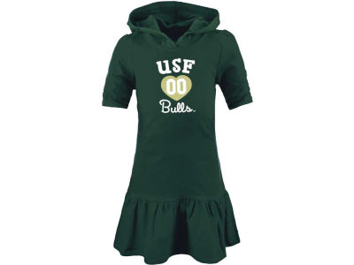 South Florida Bulls NCAA Girls Drop Waist Hooded Dress