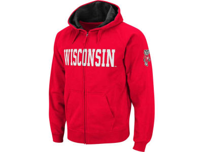 Wisconsin Badgers NCAA Block Fullzip Hoodie