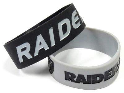 Oakland Raiders 2-pack Wide Bracelet
