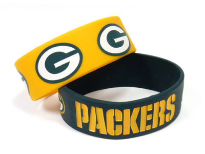 Green Bay Packers 2-pack Wide Bracelet