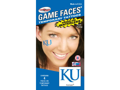 Kansas Jayhawks Waterless Game Face Tattoo