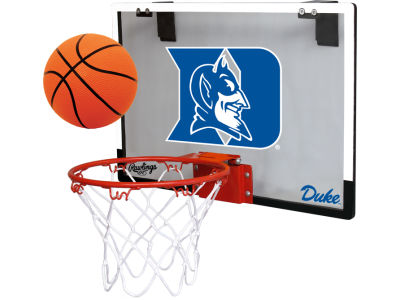 Duke Blue Devils Game On Polycarb Hoop Set