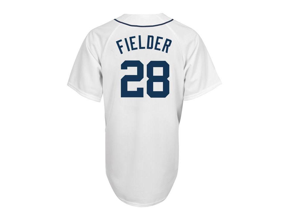 Detroit Tigers Prince Fielder Majestic MLB Men s Player Replica Cool Base  Jersey  76f68d8ed