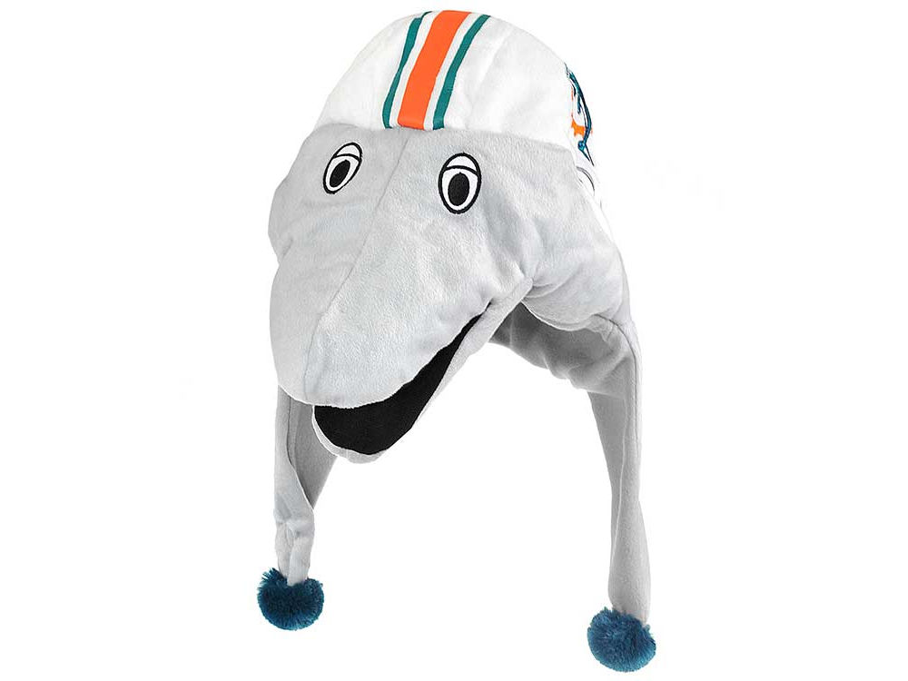 Miami Dolphins Plush Mascot Dangle Hat Lids Com