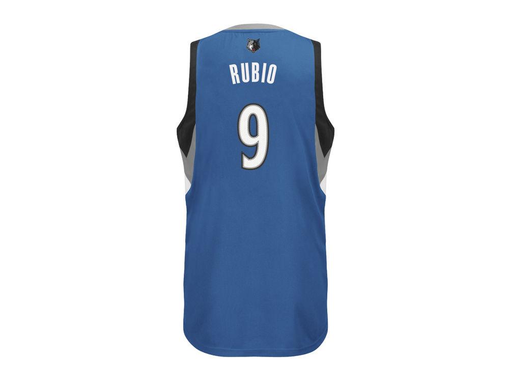 Minnesota Timberwolves Ricky Rubio adidas NBA Rev 30 Replica Jersey ... 4fee86ad7