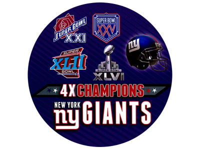 New York Giants Super Bowl XLVI Champs Round Decal