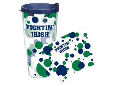 Notre Dame Fighting Irish 24oz. Polka Dot Tumbler With Lid