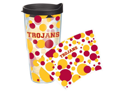 USC Trojans 24oz. Polka Dot Tumbler With Lid