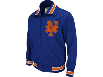 New York Mets Mitchell & Ness MLB Men's Authentic Full Zip BP Jacket
