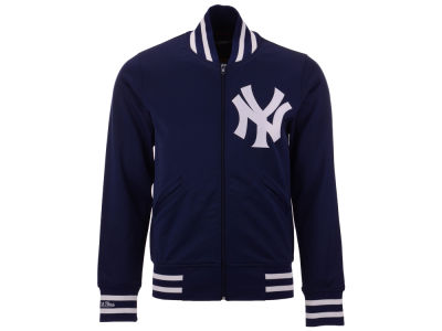 New York Yankees Mitchell & Ness MLB Men's Authentic Full Zip BP Jacket