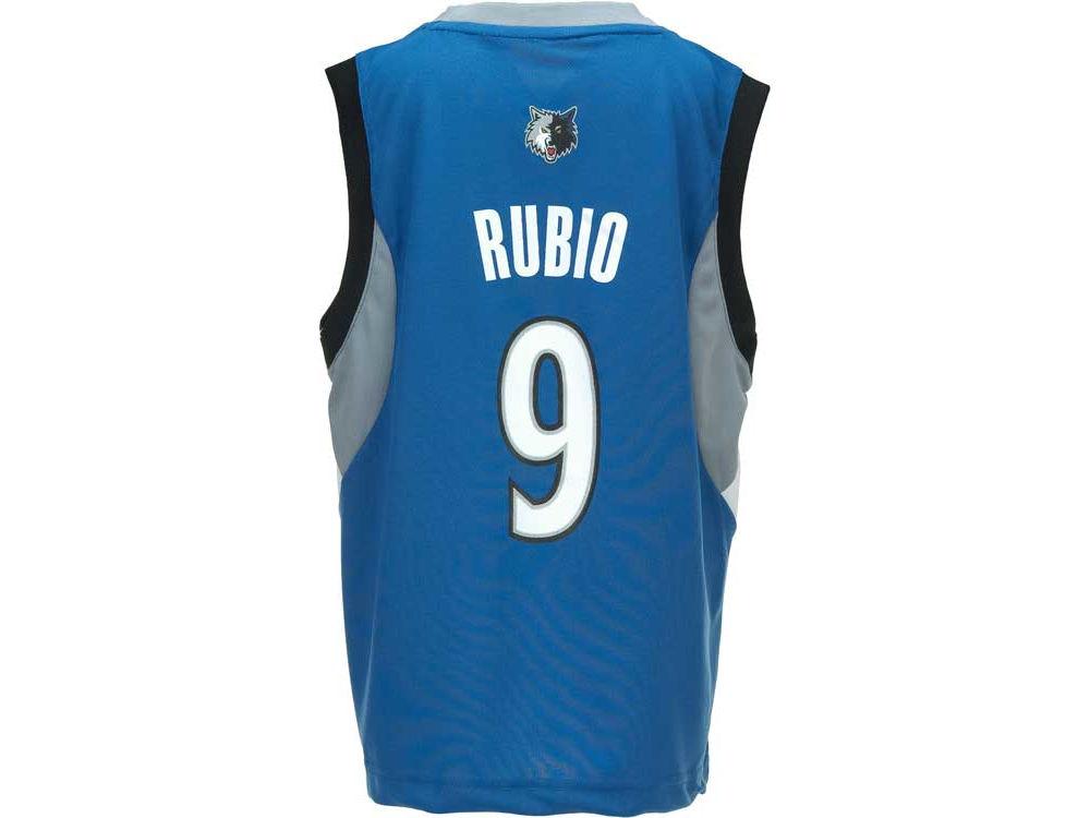 Minnesota Timberwolves Ricky Rubio adidas Youth NBA Revolution 30 Jersey  36c6a8832