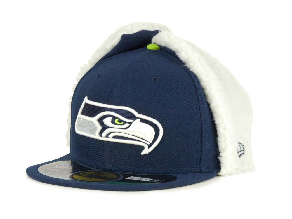 4b21b5ad6dc Seattle Seahawks New Era NFL On Field Dog Ear 59FIFTY Cap