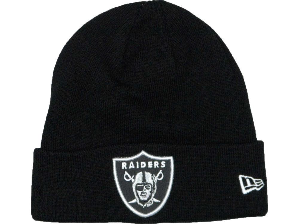 Oakland Raiders New Era NFL Basic Cuff Knit  0cf0ae7d015