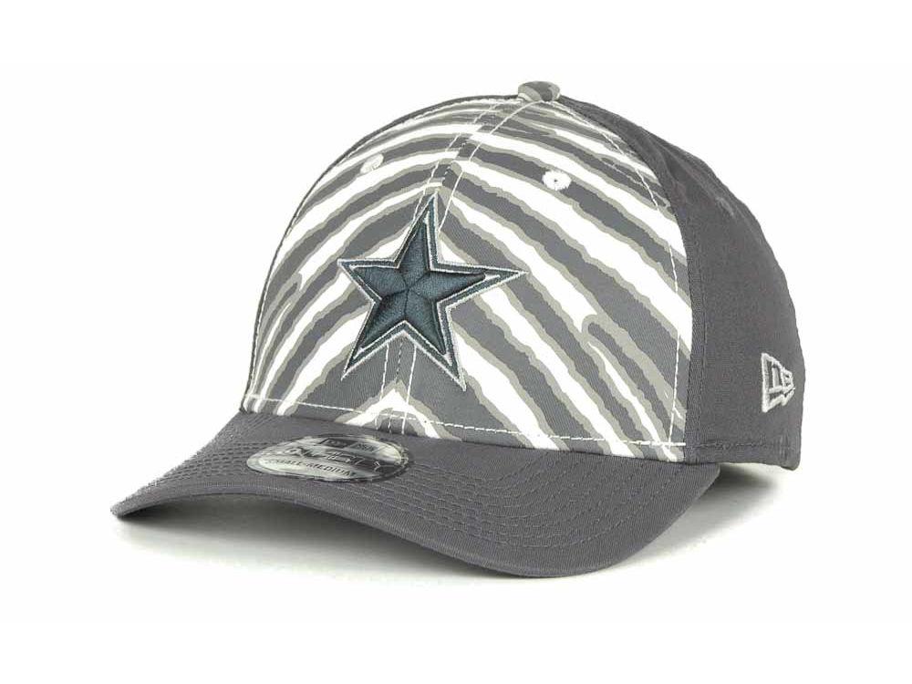 Dallas Cowboys Reebok NFL Zebra 39THIRTY Cap  18467ad4103