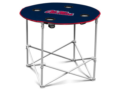 Ole Miss Rebels Round Folding Table