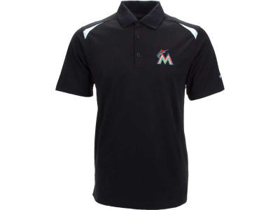 Miami Marlins Nike MLB Men's Tech Core Color Block Polo Shirt