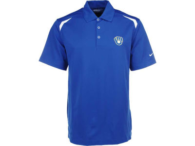Milwaukee Brewers Nike MLB Men's Tech Core Color Block Polo Shirt