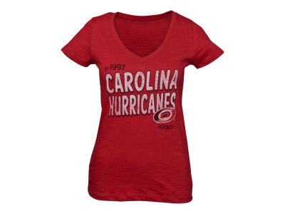 Carolina Hurricanes '47 NHL Womens Logo V-Neck Scrum T-Shirt