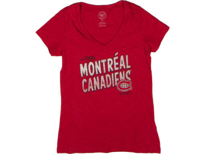 Montreal Canadiens NHL CN Womens Logo V-Neck Scrum T-Shirt