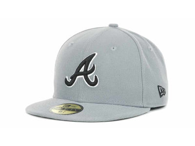 Atlanta Braves New Era MLB Youth Gray Black and White 59FIFTY