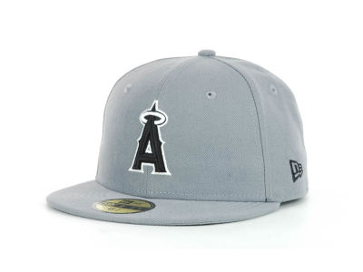 Los Angeles Angels New Era MLB Youth Gray Black and White 59FIFTY