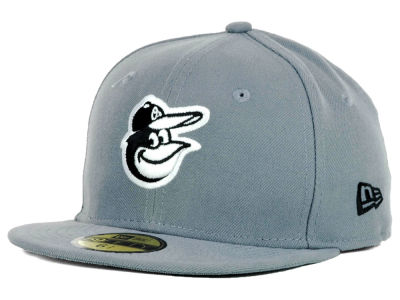 Baltimore Orioles New Era MLB Youth Gray Black and White 59FIFTY