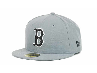Boston Red Sox New Era MLB Youth Gray Black and White 59FIFTY