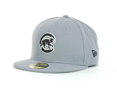 Chicago Cubs New Era MLB Youth Gray Black and White 59FIFTY