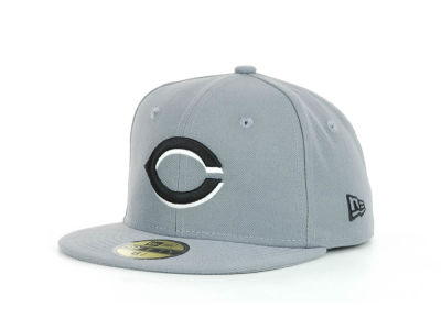Cincinnati Reds New Era MLB Youth Gray Black and White 59FIFTY